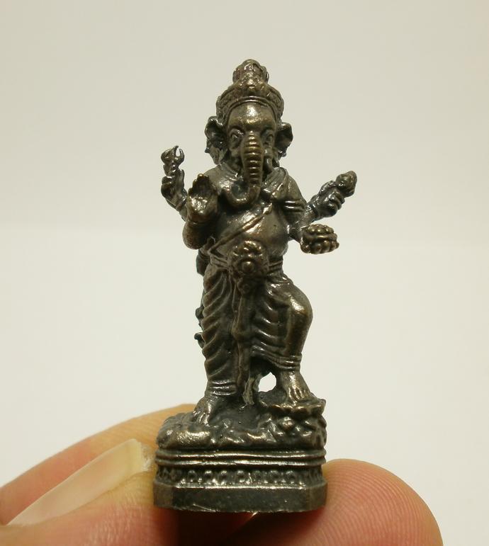 Hindu mini Gods amulet statue figurine Phra Trimurti & Lord Ganesha Supreme