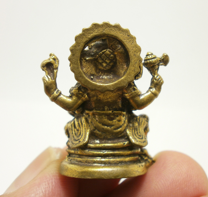 God of Success & Wisdom mini statue amulet figurine Lord Ganesh Ganesha Ganapati