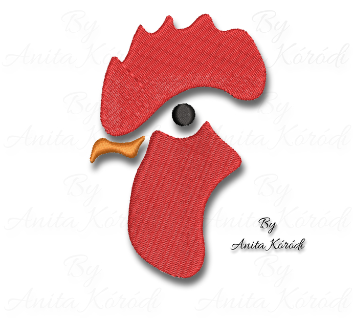 Rooster face Embroidery Machine Designs pattern digital instant pes file