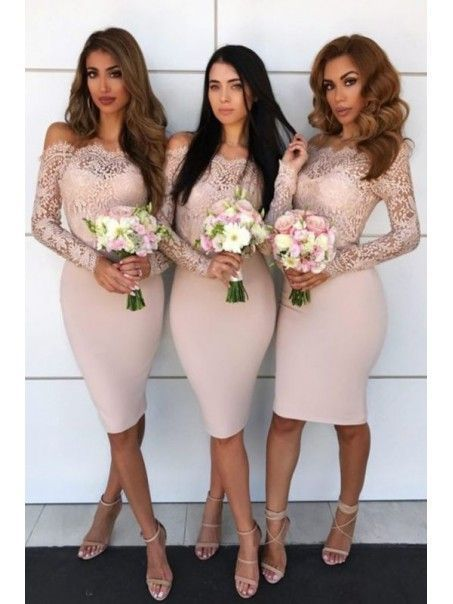 wedding party dresses 2020 champagne lace applique mermaid elegant cheap