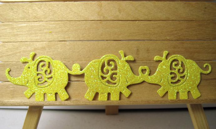 Elephants in a Row Metal Cutting Die
