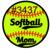 "Waterslides ""Softball"" Laser Printed #3433-#3439"