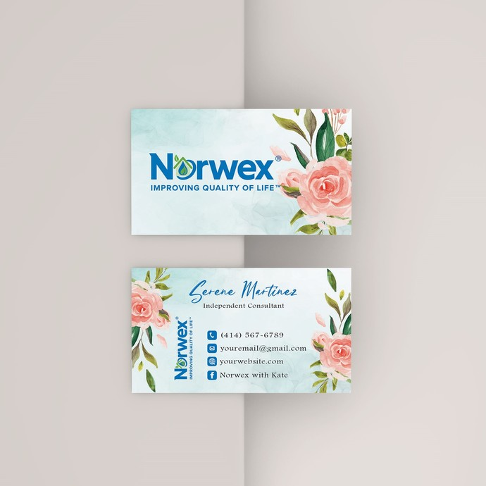 Norwex Business Cards, Personalized Norwex Template NW04