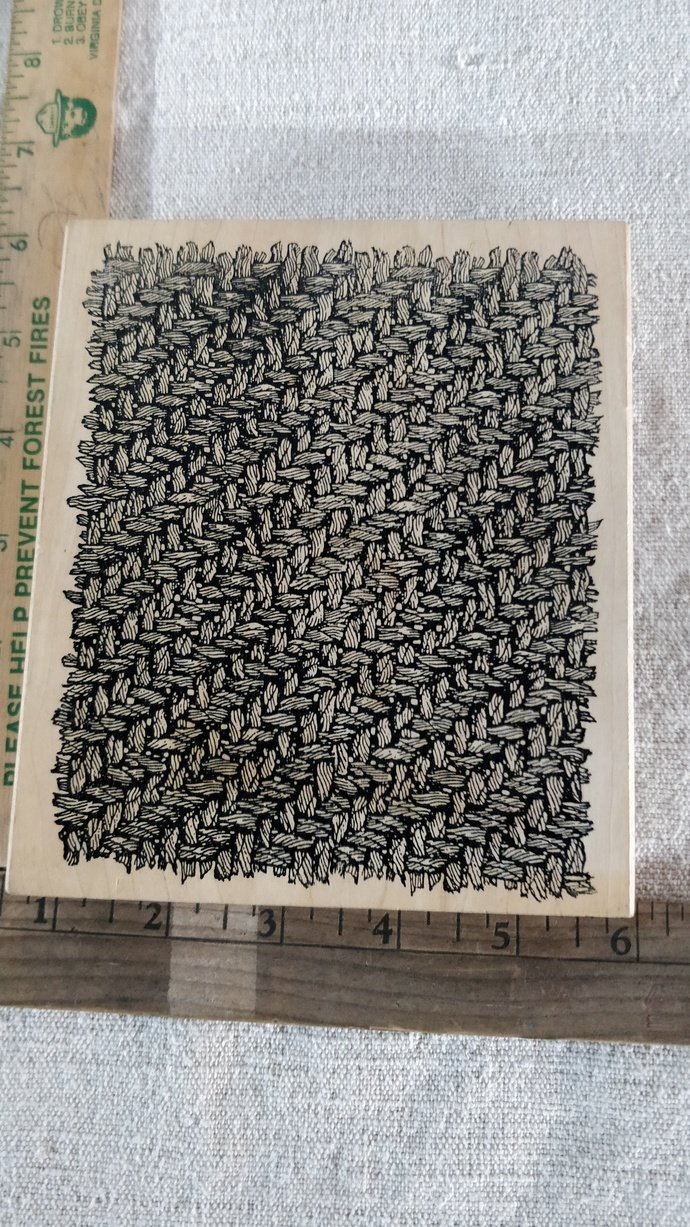 Background stamp, wooden stamp, wooden rubber stamp, large background stamp in
