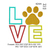 paw print love applique embroidery design,paw embroidery design,paw print