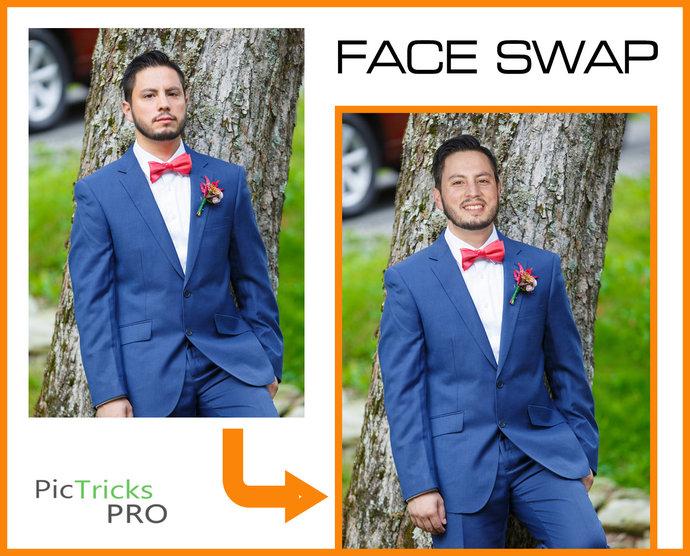 Face Swap + enhance [ Photoshop / Photo editing / faceswap / photography / PSD ]
