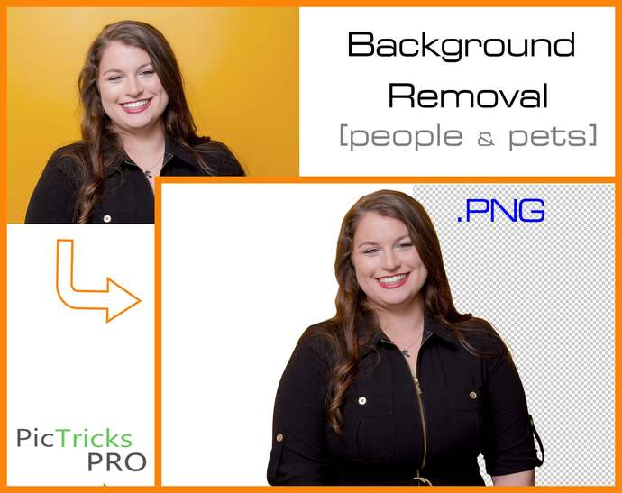 Background removal + Photo Editing for people and pets. [ Photoshop / PNG /
