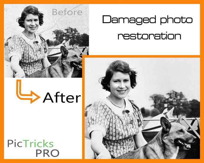 Photo Restoration / Image Editing!! [ Photoshop, old photo restoration  ] Photo