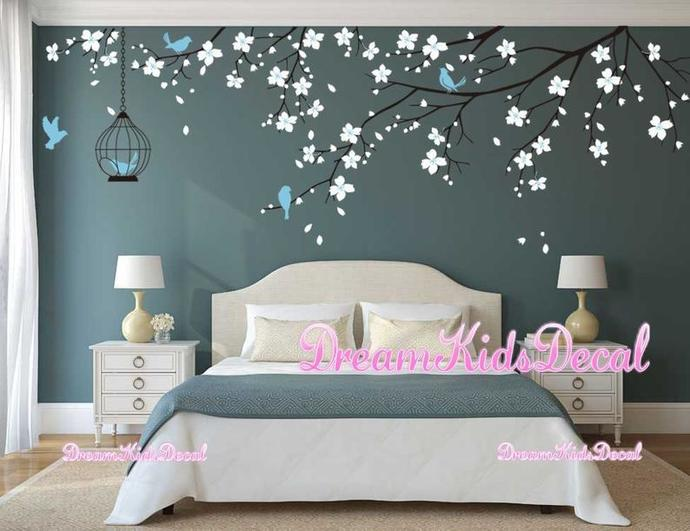 Tree wall Decal Wall Sticker Baby Nursery Decals Girls Room Decal-Cherry
