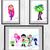 Teen Titans, Teen Titans Print, poster, home decor, nursery room, wall decor,