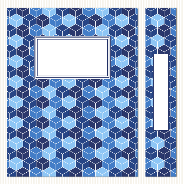 Printable Binder Covers & Spines_Cool Blues