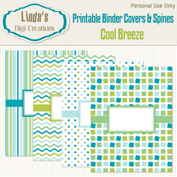 Printable Binder Covers & Spines_Cool Breeze