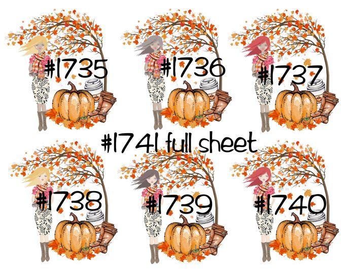 "Waterslides ""Fall Breeze"" #1735 - #1741 Laser Printed"