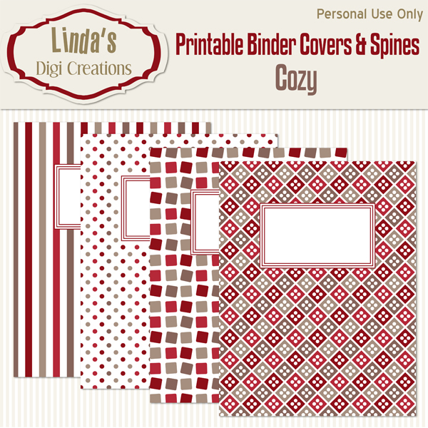 Printable Binder Covers & Spines_Cozy