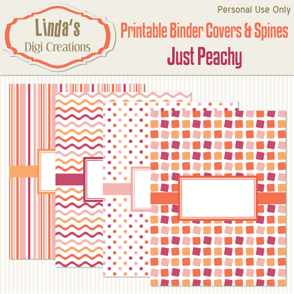 Printable Binder Covers & Spines_Just Peachy
