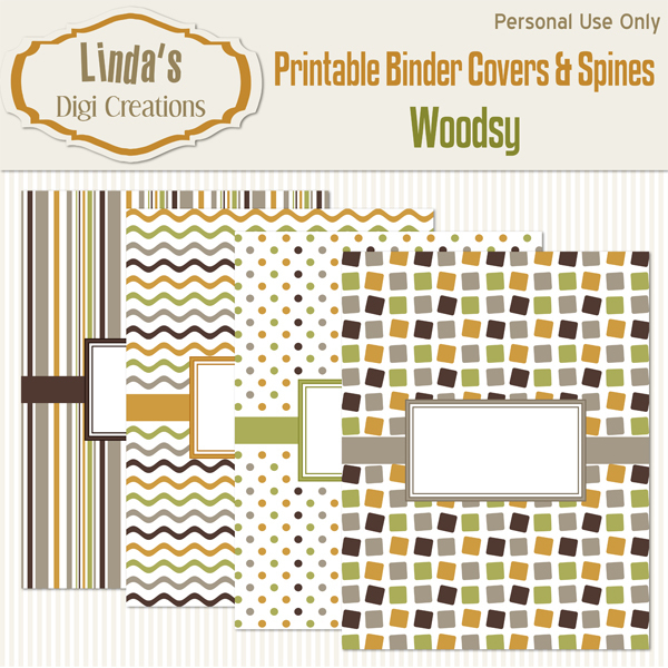 Printable Binder Covers & Spines_Woodsy