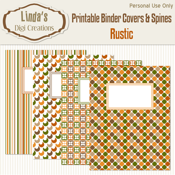 Printable Binder Covers & Spines_Rustic
