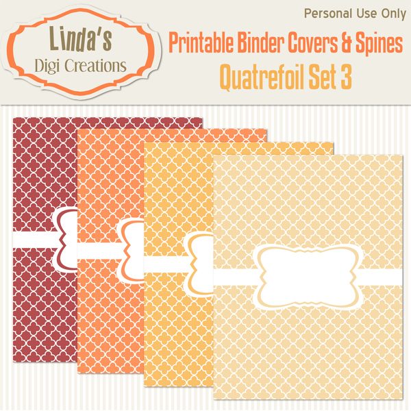 Printable Binder Covers & Spines_Quatrefoil Set 3