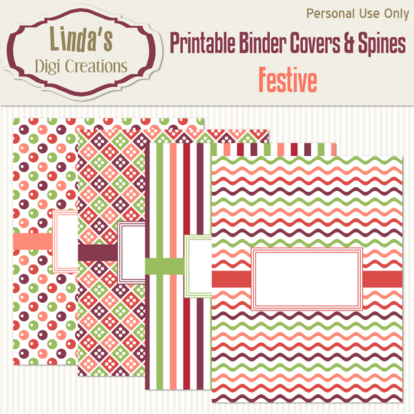 Printable Binder Covers & Spines_Festive