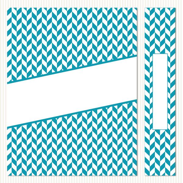 Printable Binder Covers & Spines_Herringbone Set 3
