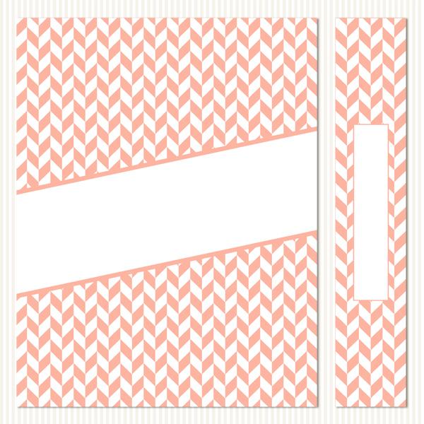 Printable Binder Covers & Spines_Herringbone Set 4