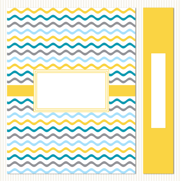 Printable Binder Covers & Spines_Fresh Linen