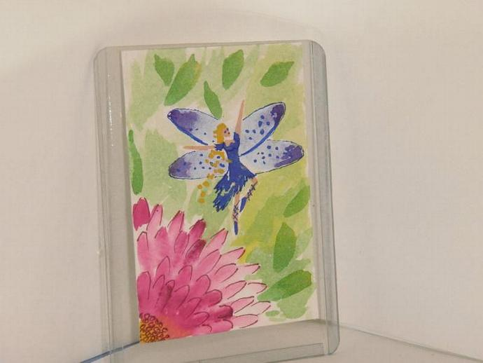 """Pixie Fairy Dancing in Delight"" original ACEO watercolor painting"