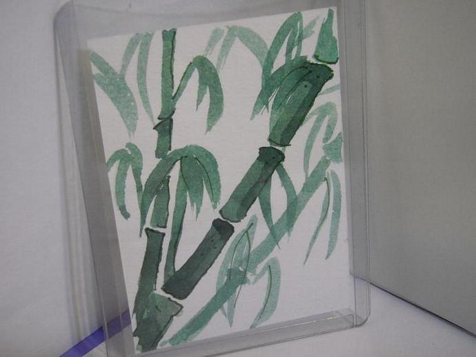 """Bamboo Dreams"" original ACEO watercolor painting"