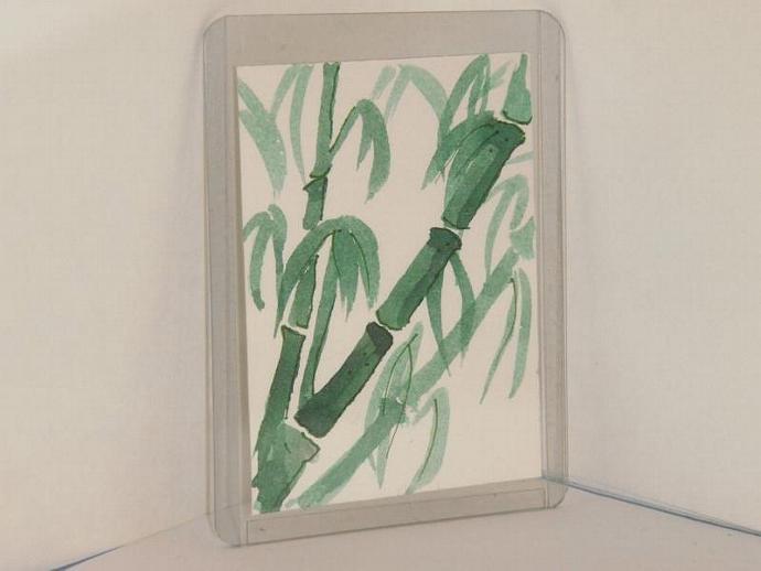 """Bamboo Dreams"" original ACEO watercolor painting"