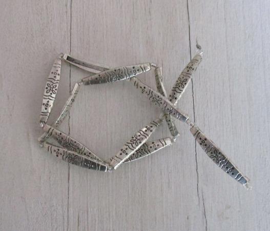 Antique Metal Slide Beads