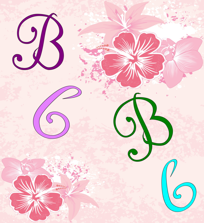 B Color Letters-Digital Clipart-Art Clip-Gift Tag-Jewelry-Text-T shirt-Font