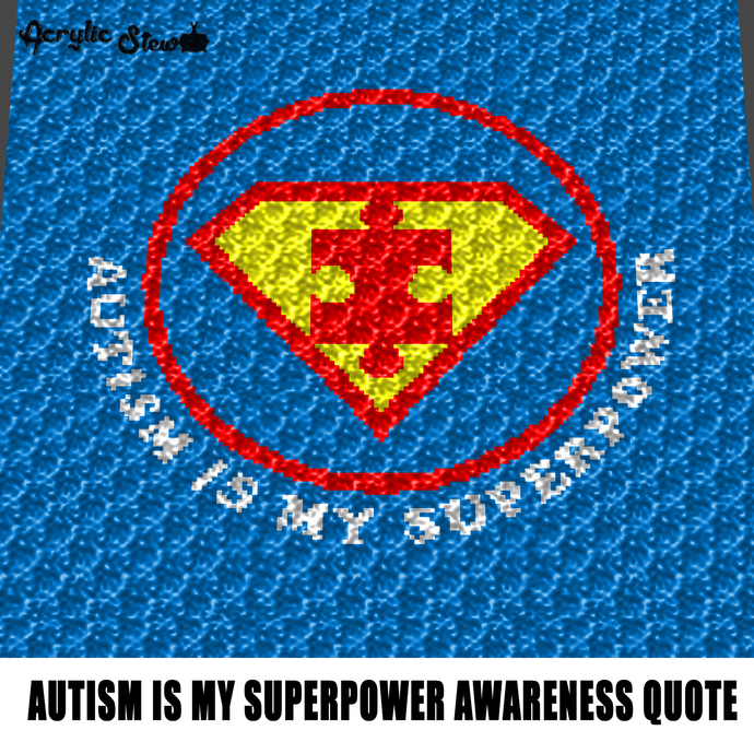 Autism Is My Superpower Autism Awareness Superman Puzzle Quote Typography