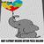 Baby Elephant Holding Autism Puzzle Balloon Autism Awareness crochet graphgan