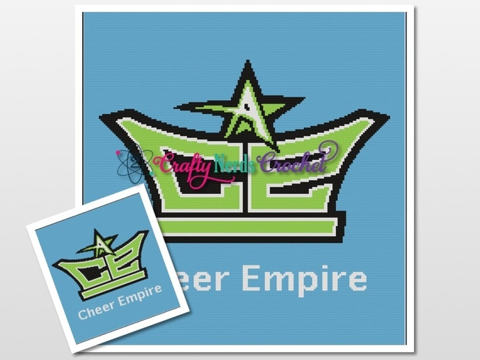 Cheer Empire Pattern Graph With Single Crochet Written