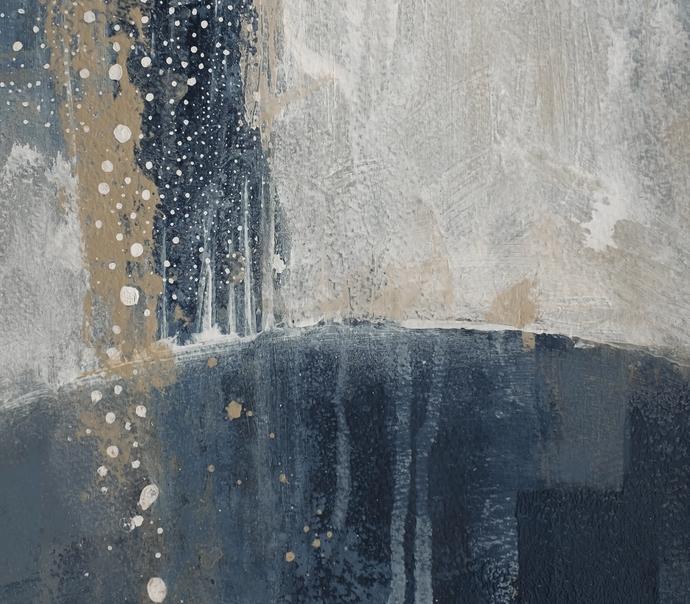 Dark Blue with Earth Tones Printable Abstract Art -,Modern Scandinavian Style