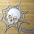Spider Web Skull Center and Small Halloween Banner Metal Cutting Die