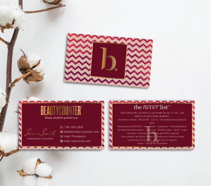 BeautyCounter Business Cards, Personalized BeautyCounter Cards BC06