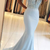 sleeveless mermaid evening dresses long blue beaded elegant satin 2020 evening