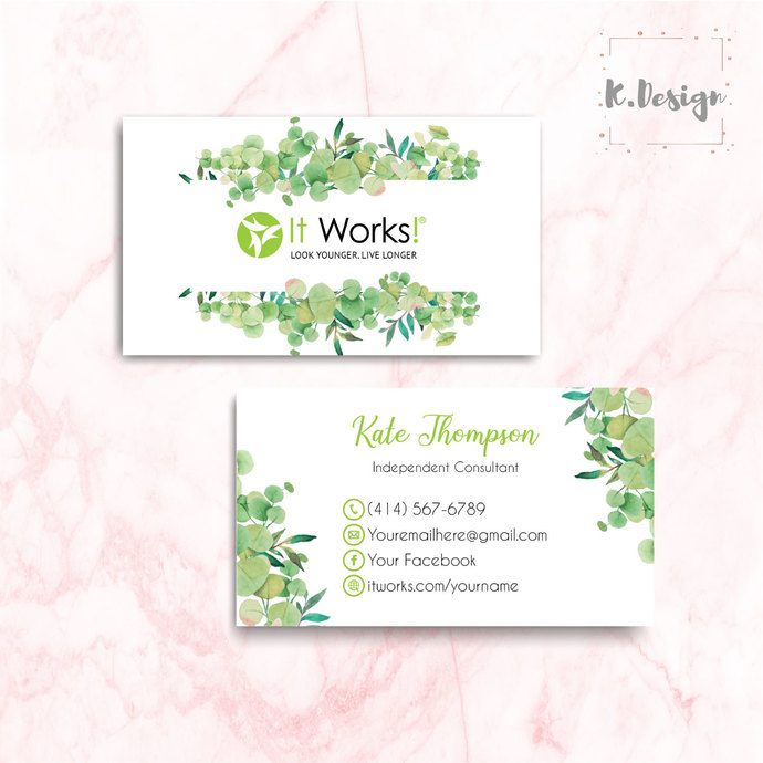 It Works Business Cards, It Works Global Cards, It Works IW07