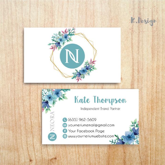 Neora Business Cards, Personalized Neora Template NE06