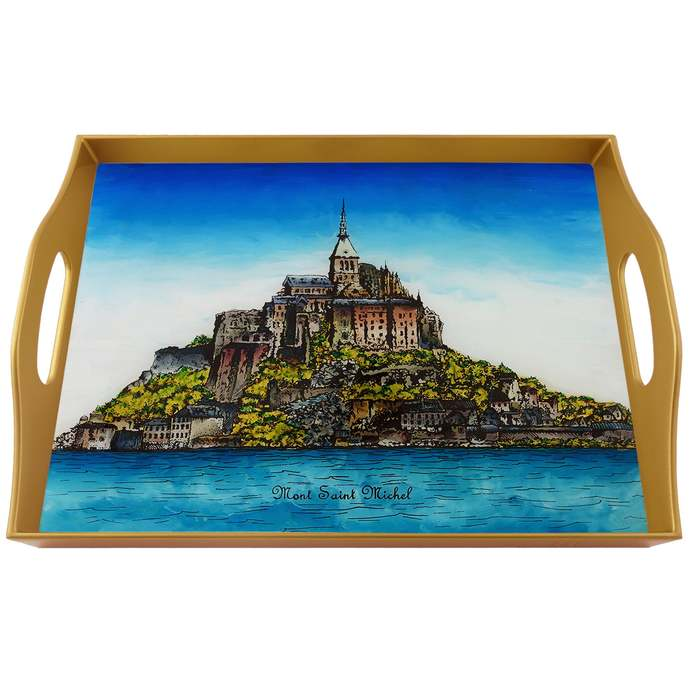 Breakfast tray - Mont Saint Michel France National Monument - Rectangular Hand