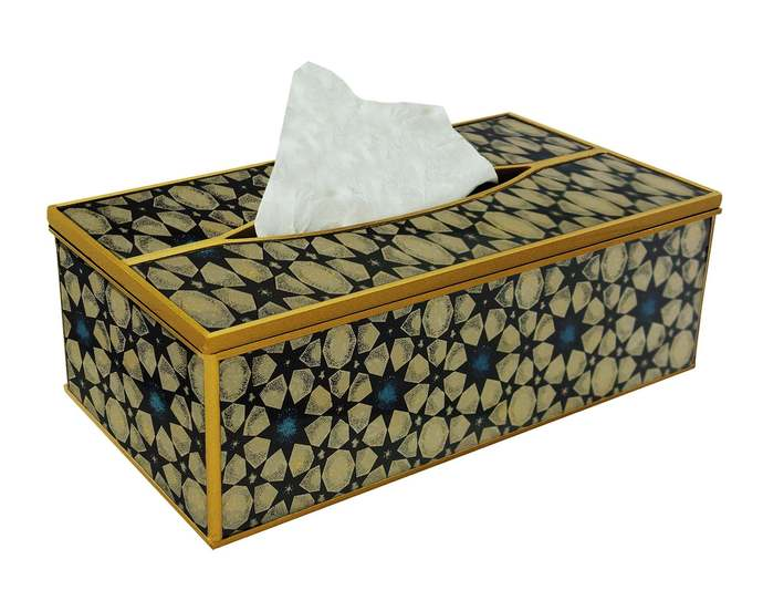 Bath organization - Geometric Oriental Style Stars - Decorative Hand Painted