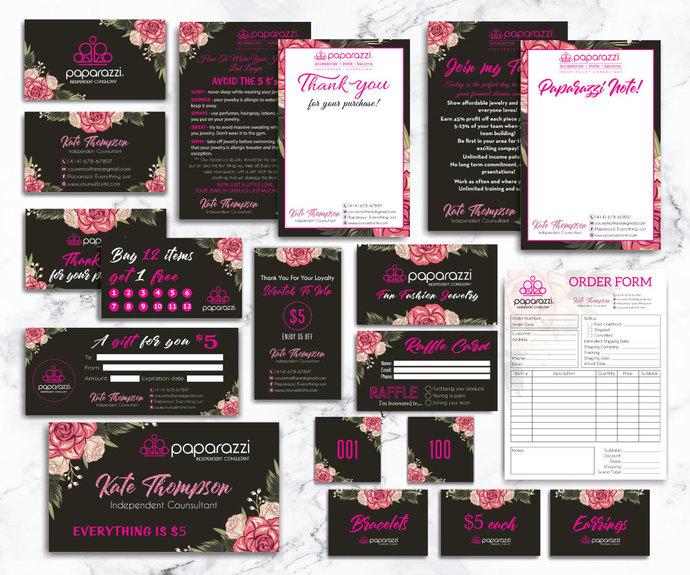 Paparazzi Marketing Kit, Personalized Paparazzi Bundle PP17
