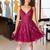 lace prom dresses short burgundy applique beaded cheap prom gown vestido de