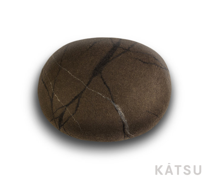 """Pouf ottoman. Model """"Moroccan stone"""". Made of soft natural wool. Like real"""