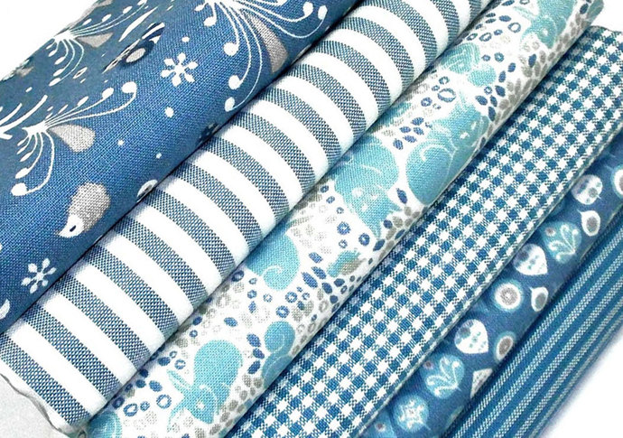 Kitzbuhel Animals fat quarter fabric bundle - Forest Fabrics in 100 % cotton -