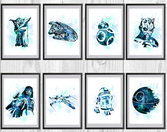 Star Wars Print, Darth Vader poster, home decor, nursery room, wall decor, Star
