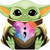 Baby Yoda Suicide awareness , semi colon, you matter, you are loved, i'm here if