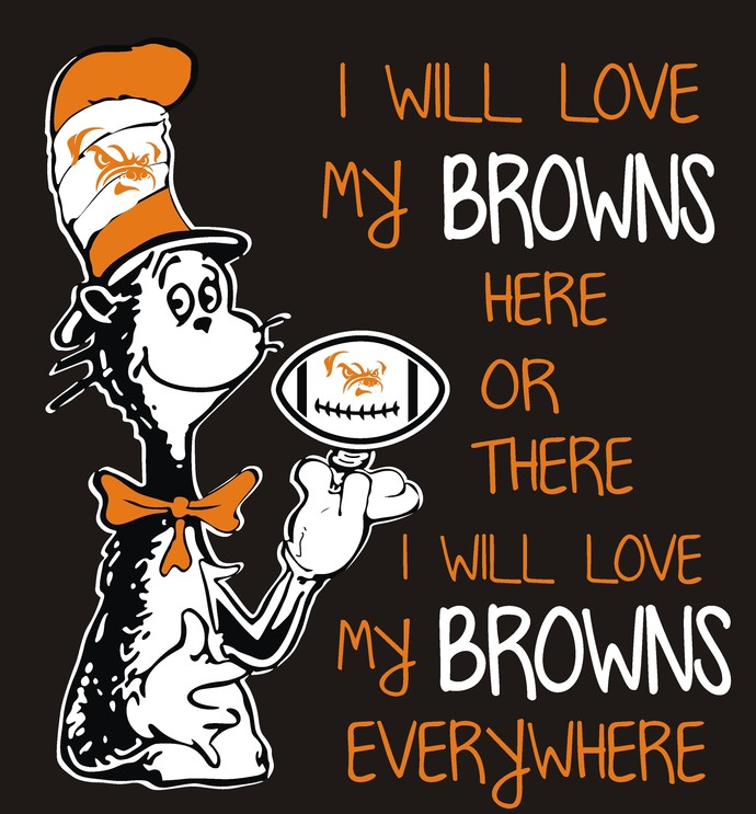 Cat in the Hat Cleveland Browns, football, SVG