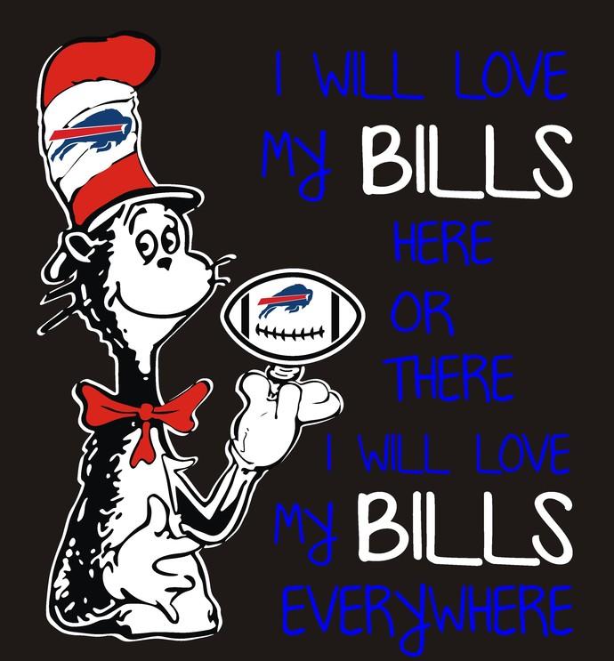 Cat in the Hat, Buffalo Bills, Football, SVG